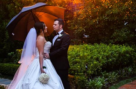sunset wedding cinematic in Kew
