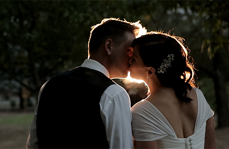 Melbourne wedding sunset video in immerse winery