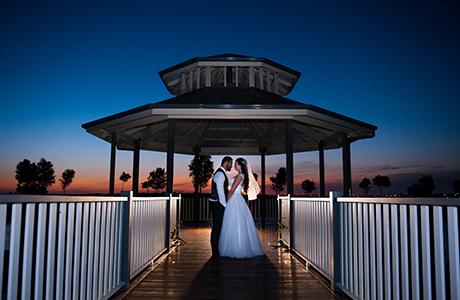 Melbourne wedding night photography