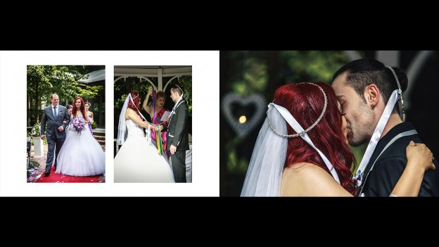 Melbourne wedding bride and groom first kiss