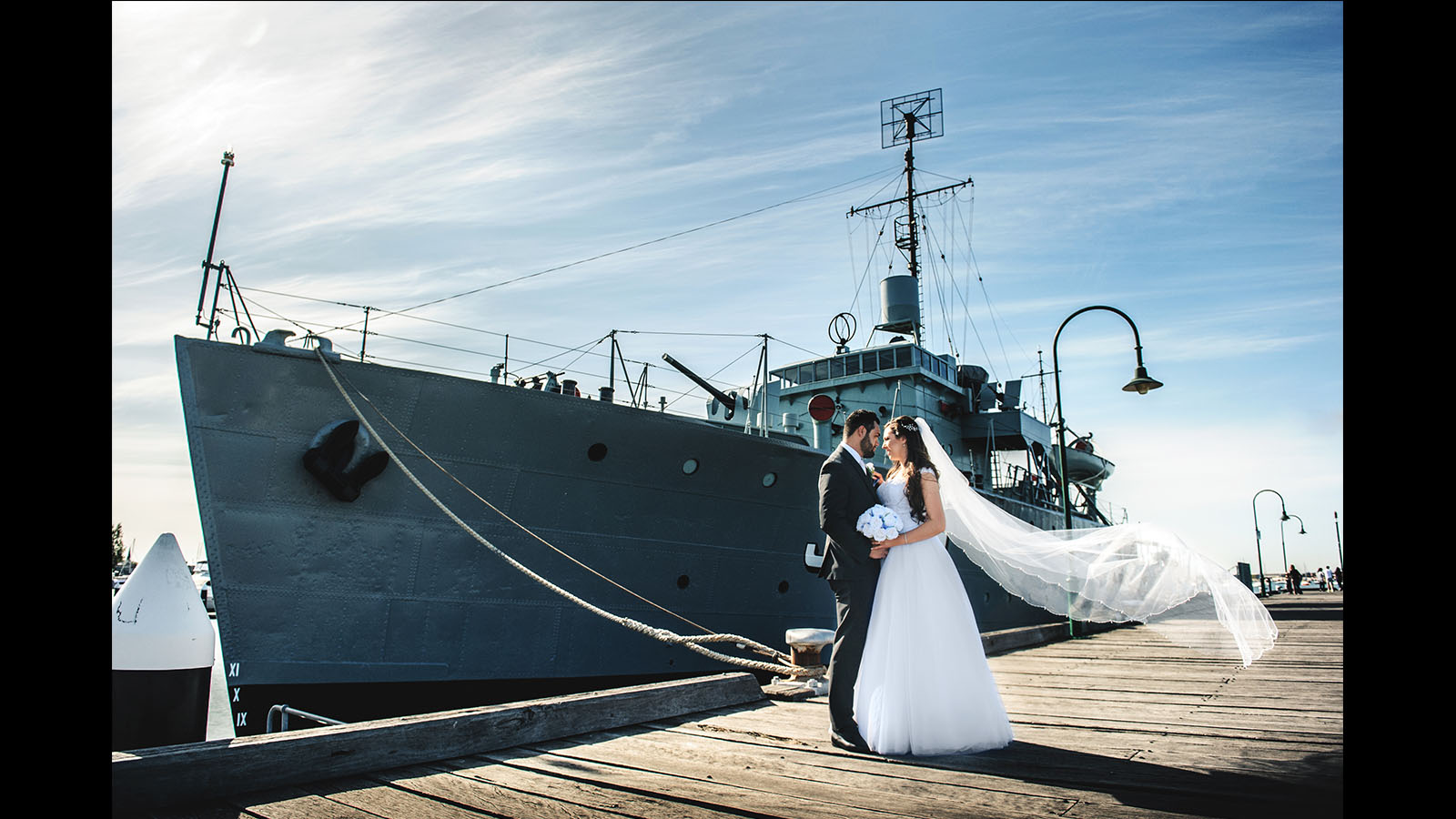 wedding photography Williamstown ship