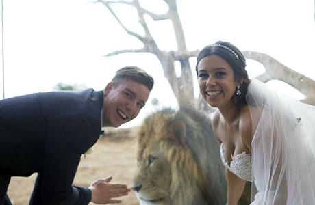 Janessa and Jordan's wedding at Werribee Open Range Zoo