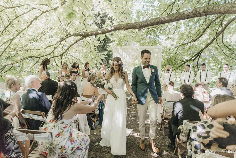 Emily and Steve's Wedding Ceremony at Fitzroy Garden