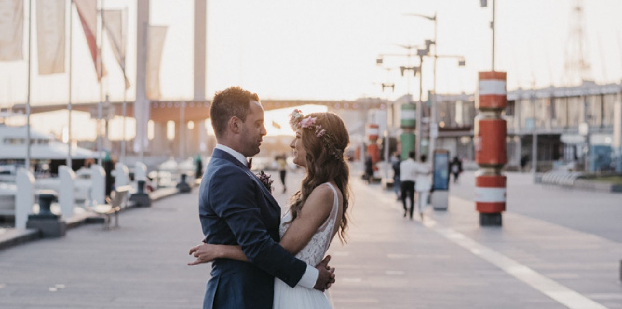 All smiles melbourne waterfront wedding photography melbourne