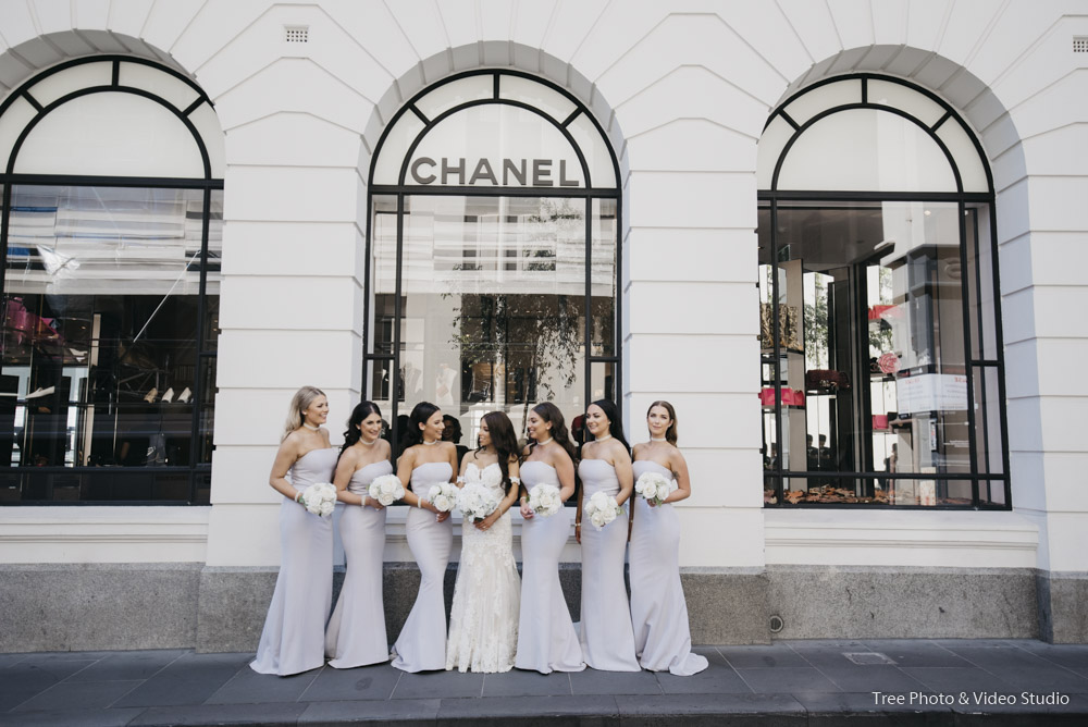 Chanel Melbourne City Wedding Photography