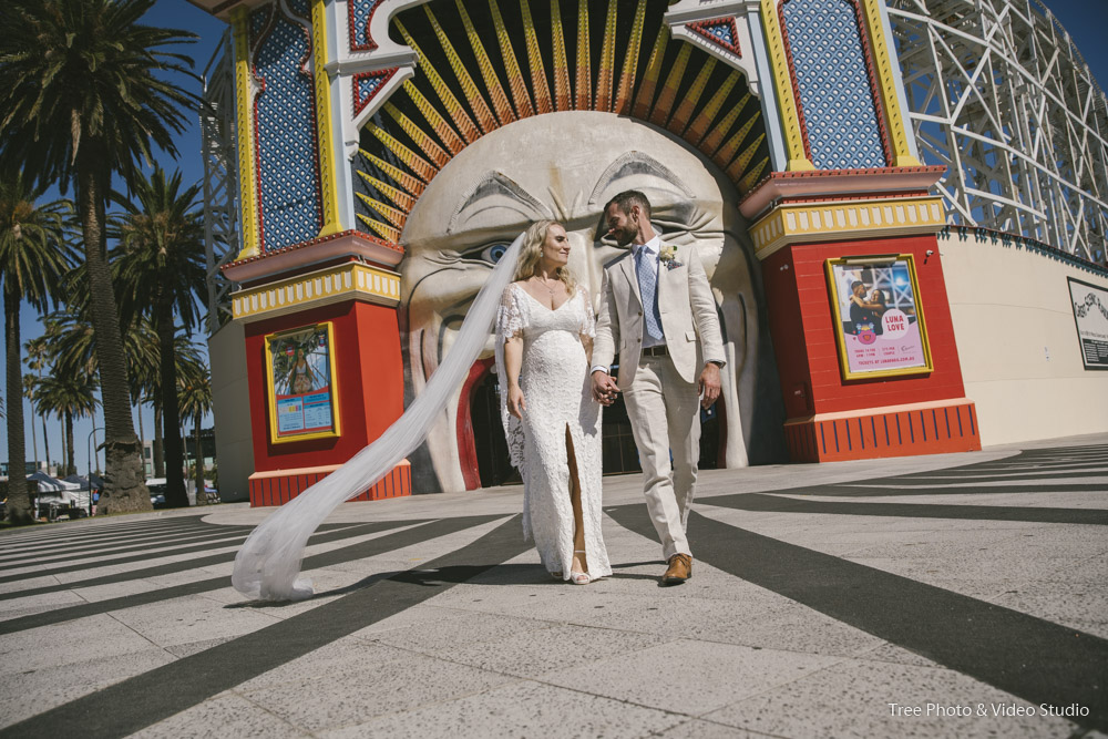 Luna Park Melbourne Wedding Photography