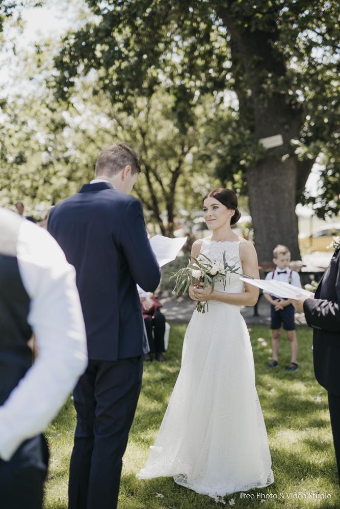 Groom Read His Wedding Vows
