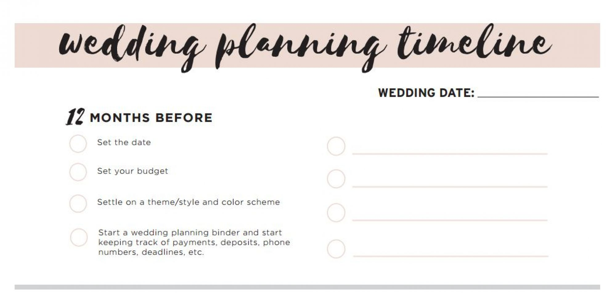 Wedding planning checklist for australian bride