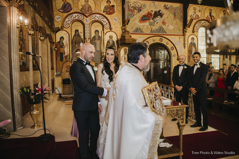 Christina and Andrei's Greek Wedding Ceremony Walk