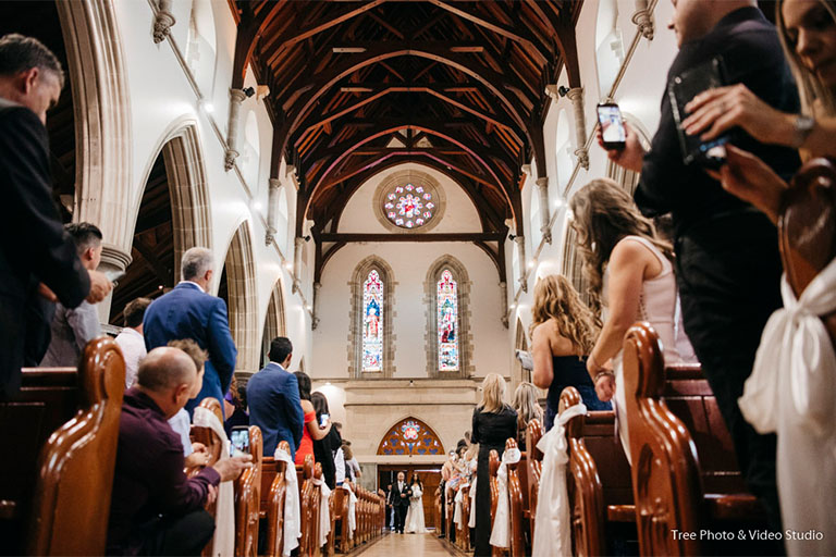 Melbourne Wedding Ceremony Location St Ignatius Catholic Church