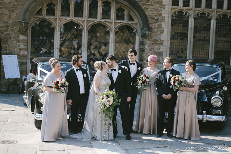 Montsalvat Wedding photo with hashtag ideas