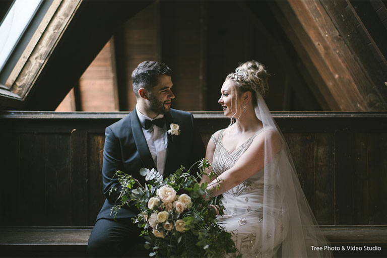 Mollie and James's Boho Wedding at Montsalvat
