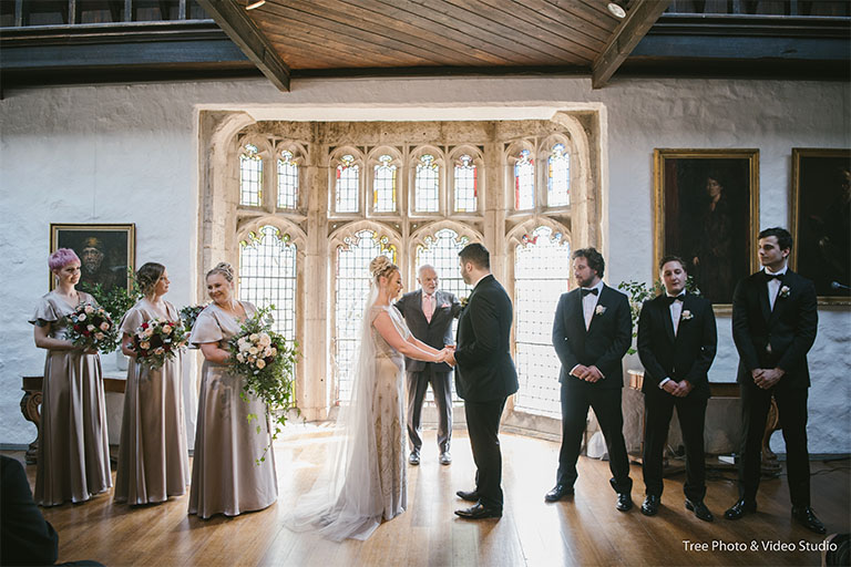 Melbourne Wedding Ceremony Location Montsalvat