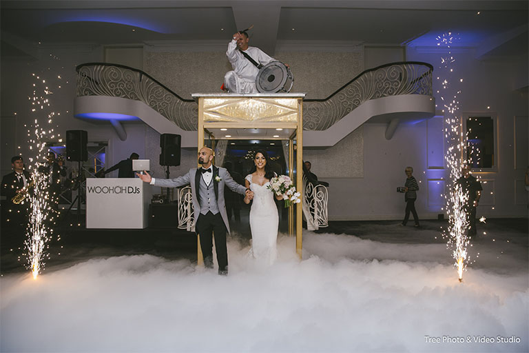 Elizabeth and Kush's Entrance at Sheldon Receptions