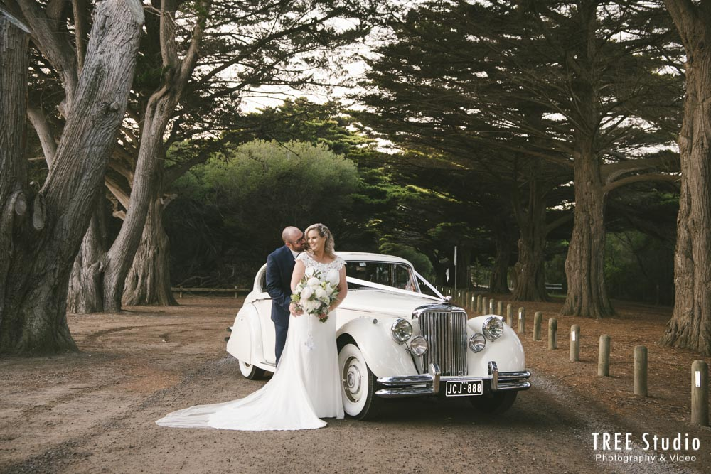 Rebecca and Troy's Wedding Car