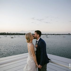 Jennifer and justin @ the pier geelong wedding photography