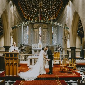 Stephanie & hugh @ st mary's catholic church wedding photography