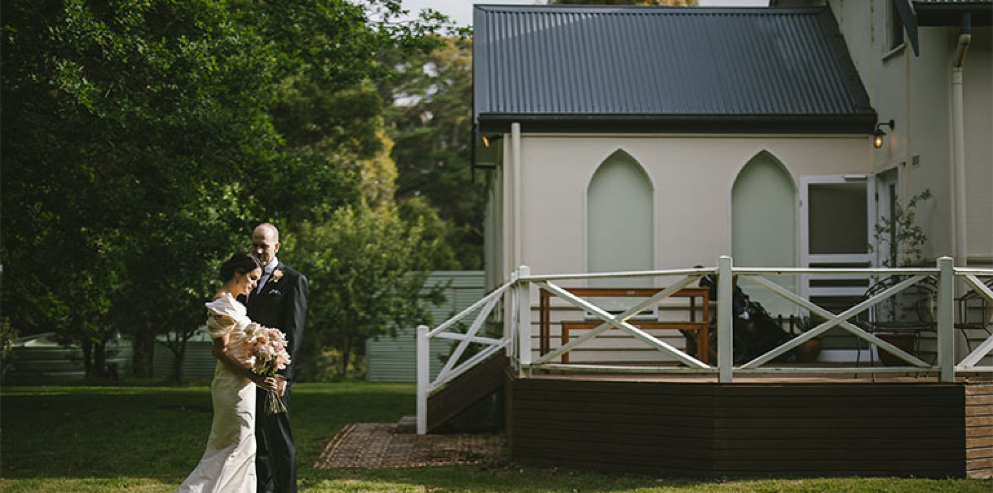 Church at lyonville daylesford wedding photography