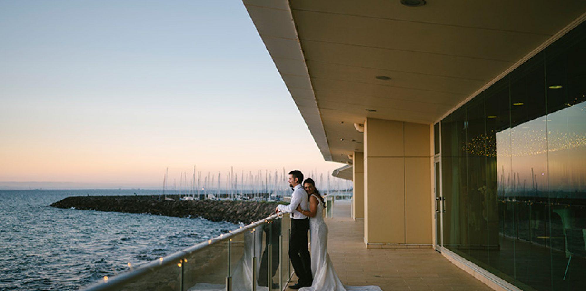 Renee & damian wedding photography @ sandringham yacht club