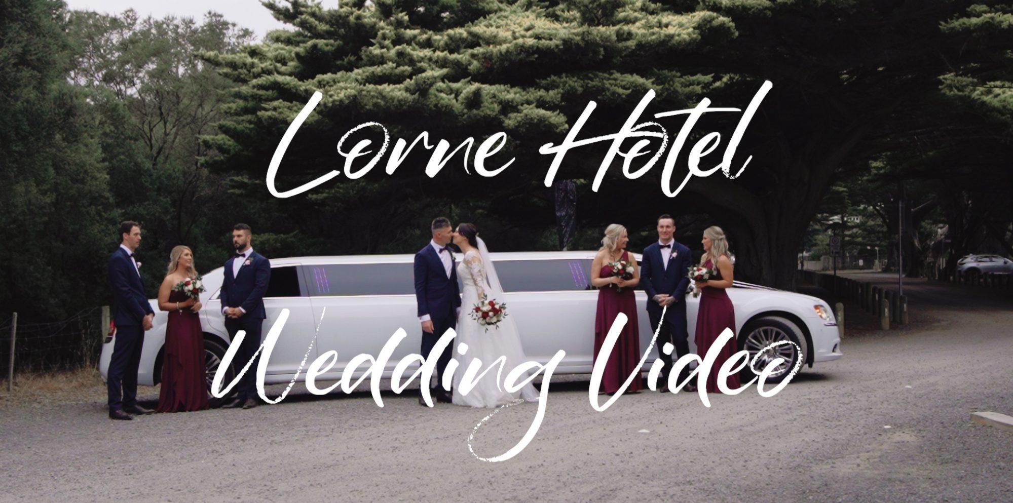 Rebecca & klay wedding videography @ lorne hotel