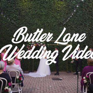 Natalie & chris melbourne wedding video @ butler lane