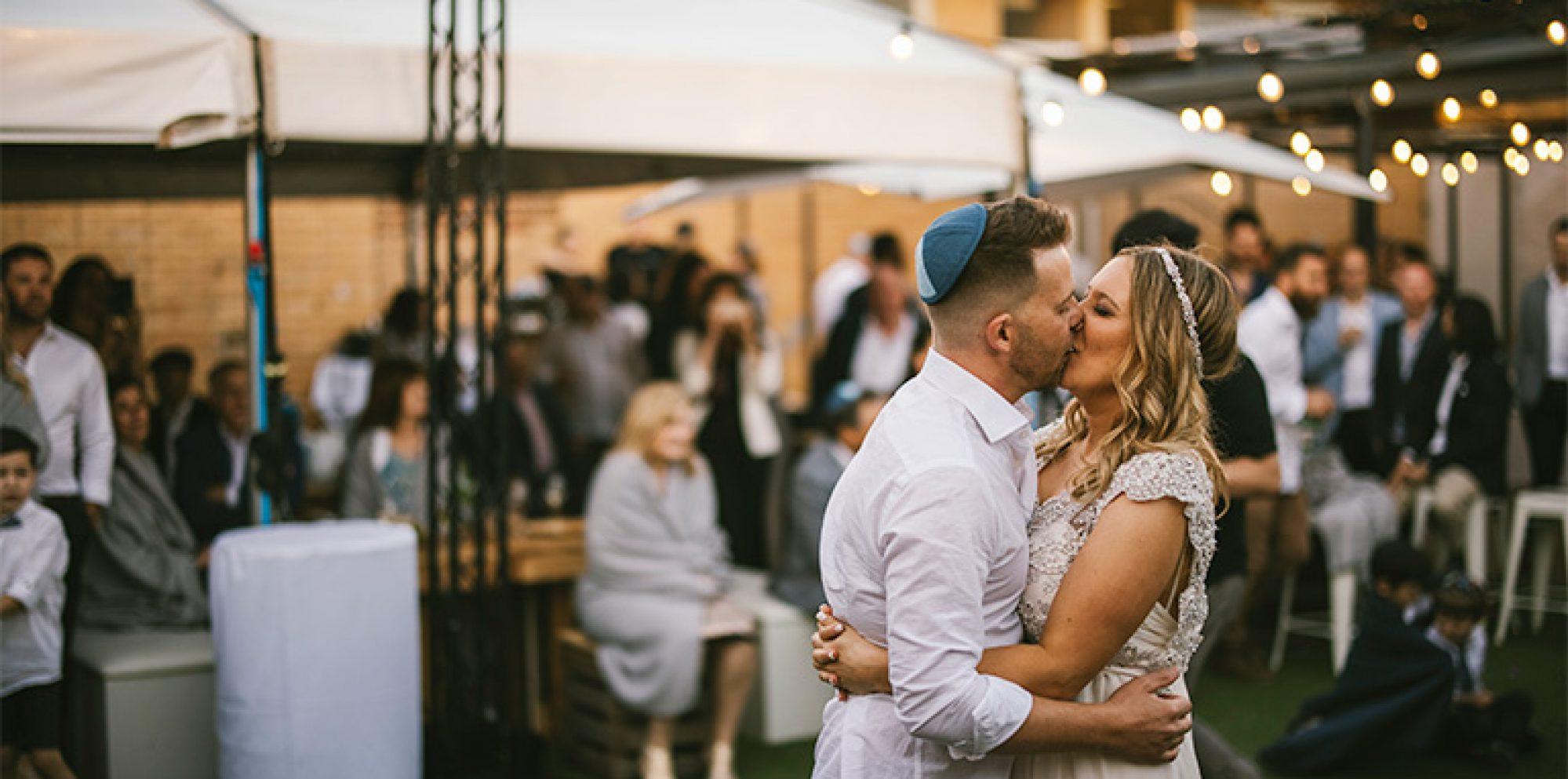 Amy & darren @ jewish wedding videography melbourne
