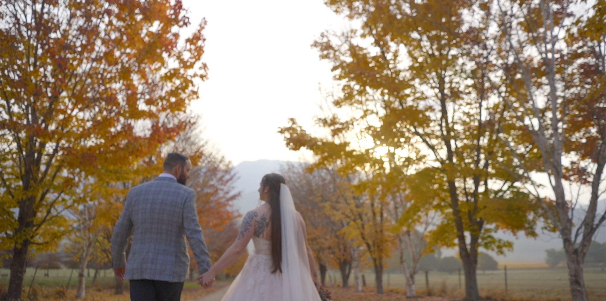 Jessica & andrew wedding video @ merrimeet cottages bright